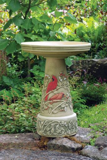 pedestal birdbath