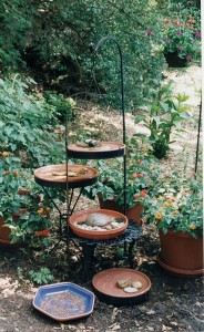 hanging birdbaths
