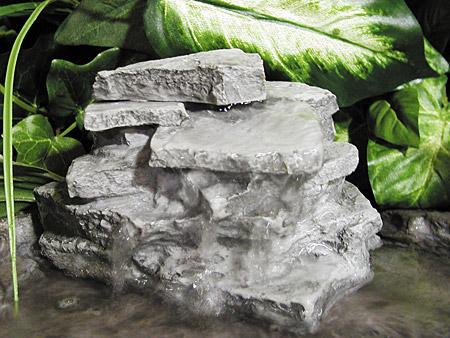 layered waterfall rock