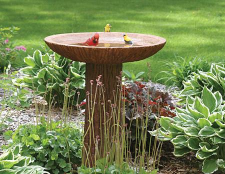 pedestyle style birdbath
