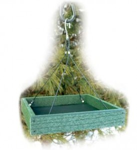 Platform Feeder with mesh bottom for drainage,