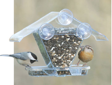 window-mounted bird feeder